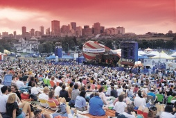 Edmonton Folk Music Festival & Skyline - Photo Credit: Travel Alberta