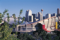 Saddledome & Skyline Calgary Photo Credit: Travel Alberta